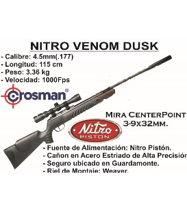 CARABINA CROSMAN NITRO VENOM DUSK C/4.5