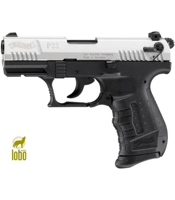 PIST.DET.WALTHER P22 NIKEL C/9MM