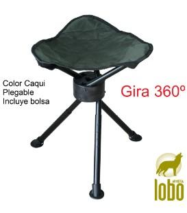 SILLA TRIPODE GIRATORIO 360º CAQUI