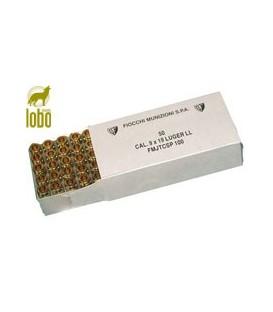 FIOCHI 9X19 MM PB LUGER SEMIBLINDADA 9 LARGO 100G (CAJAS DE 50)