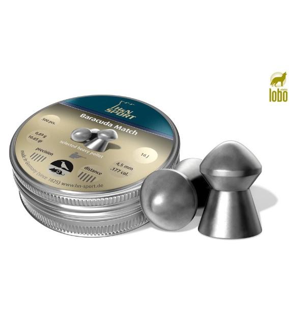 BALINES H&N BARRACUDA MATCH C/4.5 (CAJA DE 500)