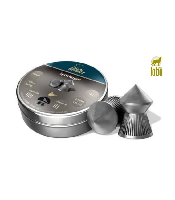 BALINES H&N SPITZ KUGELN C/6.35 CAJA DE 150