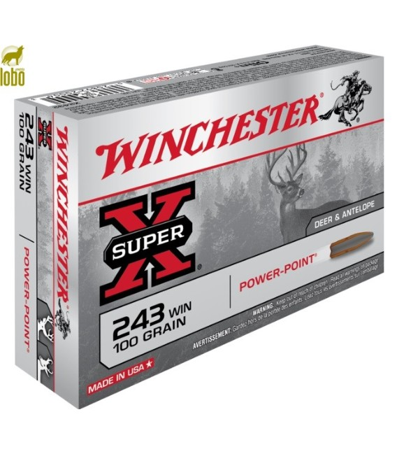 WINCHESTER 243 WIN POWER POINT 100G
