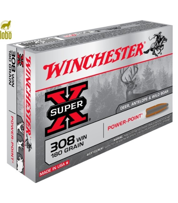 WINCHESTER 308 SUPER-X WIN POWER POINT 180G