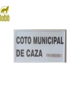 TABLILLA COTO MUNICIPAL DE CAZA