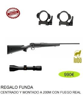 RIFLE MAUSER M18 + VISOR NIKKO STIRLING 2,5-10X50 Ó 3-12X56 + MONTURAS DESMONTABLES + FUNDA