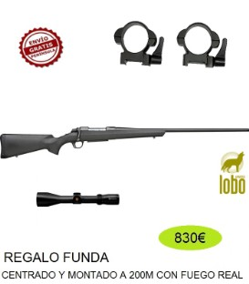 RIFLE A-BOLT COMPOSITE THREADED C/ 243, 08,30-06,300+VISOR NIKKO STIRLING 2,5-10X50 Ó 3-12X56+ MONTURAS DESMONTABLES+FUNDA