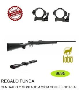 RIFLE MAUSER M18 + VISOR BSA 2.5-10X50 + MONTURA DESMONTABLE + FUNDA