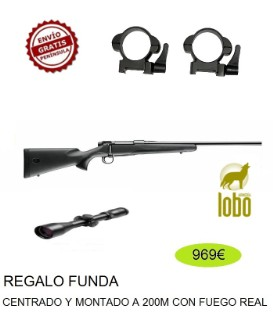 RIFLE MAUSER M18 C/300 + VISOR BSA 2.5-10X50 + MONTURA DESMONTABLE + FUNDA