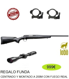 RIFLE X-BOLT COMPOSITE DURA TOUCH THREADED C/ 223,243,308, 270,30-06+VISOR BSA 2,5-10X50+MONTURAS DESMONTABLES + FUNDA