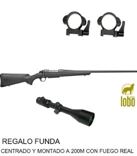 RIFLE A-BOLT COMPOSITE THREADED C/ 243, 08,30-06,300+VISOR SHILBA 2,5-10X50+ MONTURAS DESMONTABLES+FUNDA