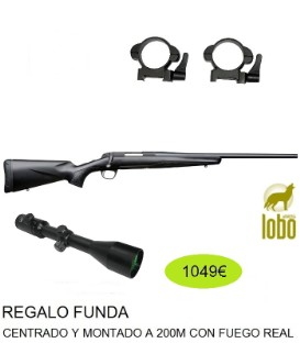 RIFLE X-BOLT COMPOSITE DURA TOUCH THREADED C/ 223,243,308, 270,30-06+VISOR SHILBA 2,5-10X50+MONTURAS DESMONTABLES + FUNDA