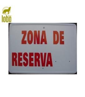 TABLILLA ZONA DE RESERVA CON MATRICULA