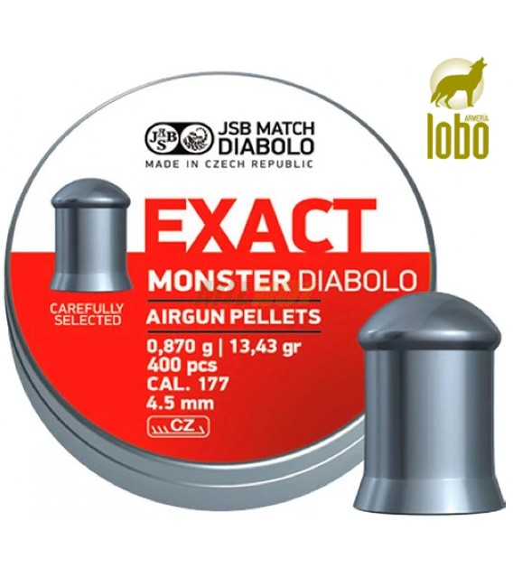 BALINES JSB-EXACT MONSTER C/4.5 (400 UNIDADES)