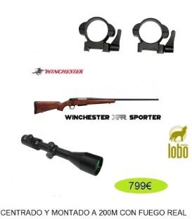 RIFLE WINCHESTER XPR SPORTER CAL/30-06, 308, 243, 300, 270+VISOR SHILBA 2.5-10X50 +MONTURAS DESMONTABLES