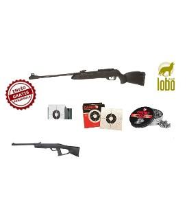 CARABINA GAMO BLACK 1000 C/5,5 + DELTA FOX GT C/4,5 O 5,5 + CAZABALINES + 100 DIANAS + 2 CAJA DE BALINES