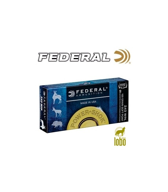 FEDERAL SOFT POINT CAL/243 100 GRS