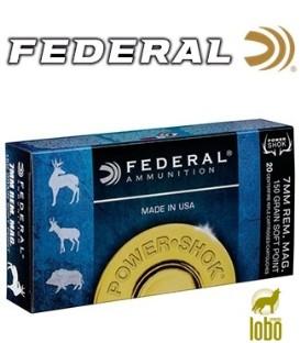 FEDERAL C/7 MM REM MAG SOFT POINT POWER SHOK 150 GRS