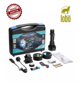 KIT DE CAZA LINTERNA LED RECARGABLE WARRIOR X TURBO 1.100 LUM OLIGHT