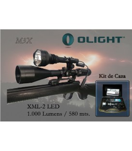 LINTERNA OLIGHT KIT DE CAZA M3X 1200 LUM. RECARGABLE